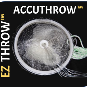 10853 – EZ THROW 1000 5′ x 3/8″ Mesh, Clear Mono, Non-Lead Weights