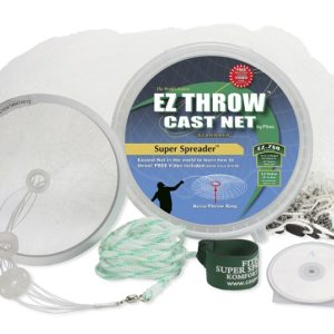 10143 – EZ THROW 750 4′ x 3/8″ Mesh, Clear Mono, Non-Lead Weights